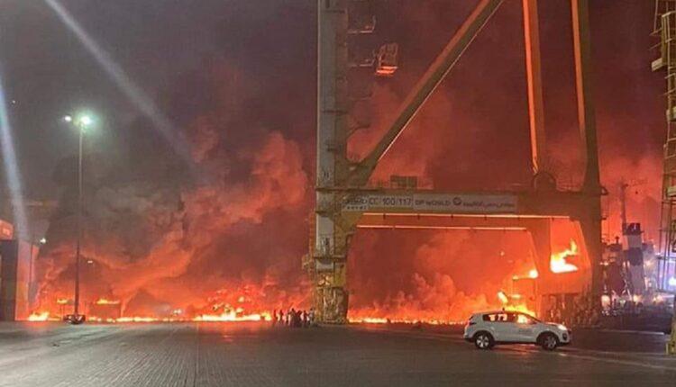 انفجار دبي- صورة متداولة على وسائل التواصل