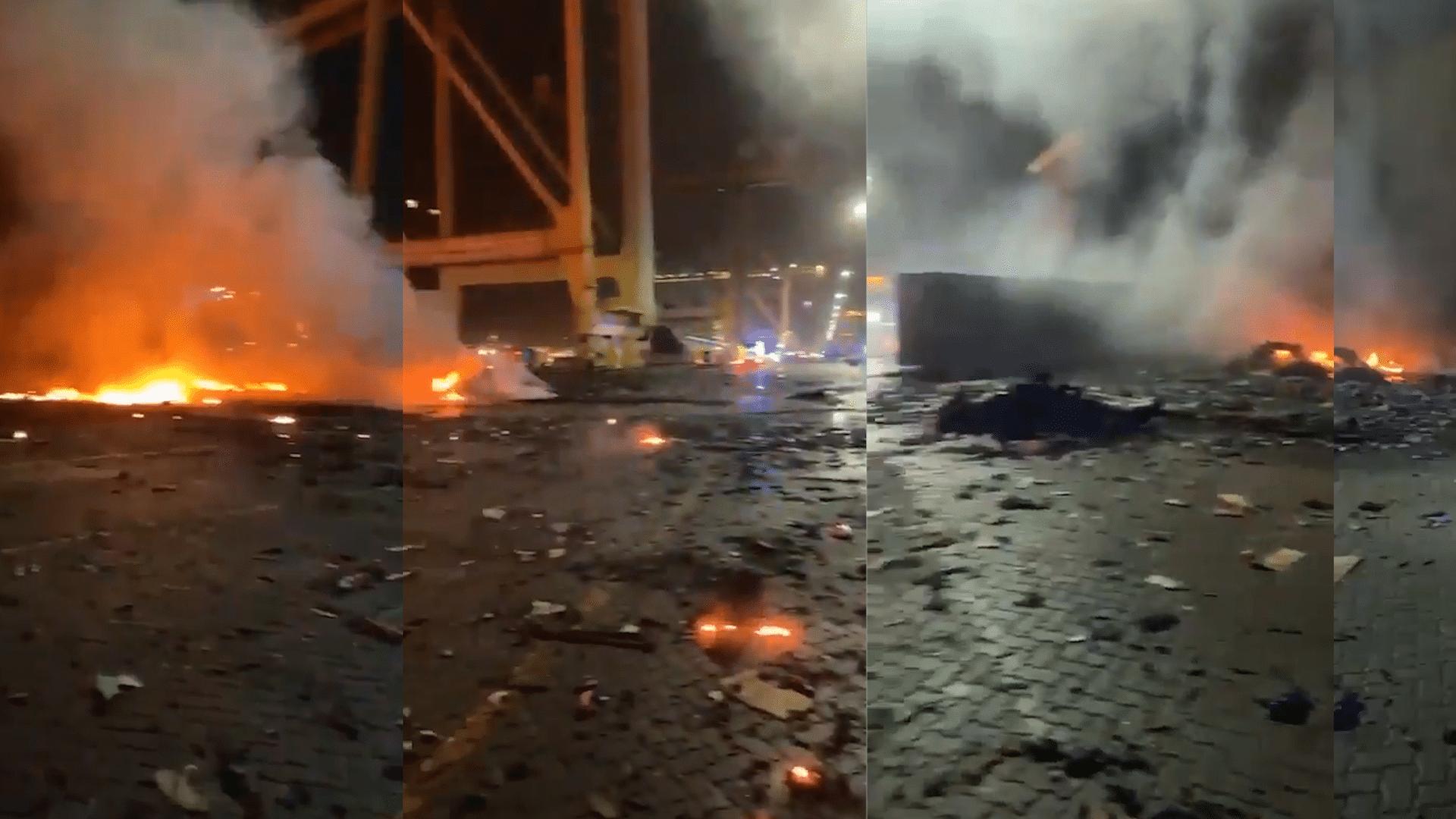 انفجار جبل علي في دبي