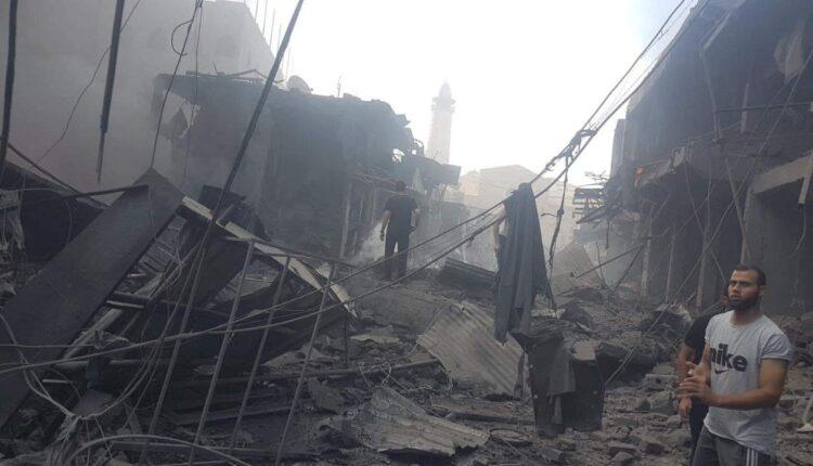 انفجار سوق الزاوية في غزة