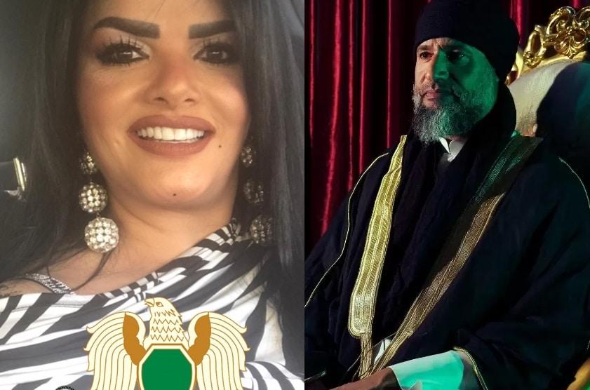 جميلة المحمودي سكرتيرة وحارسة القذافي الخاصة تهاجم ظهور سيف الإسلام الاخير