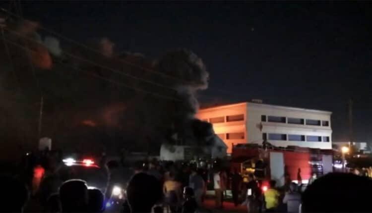 حريق مستشفى الحسين في العراق