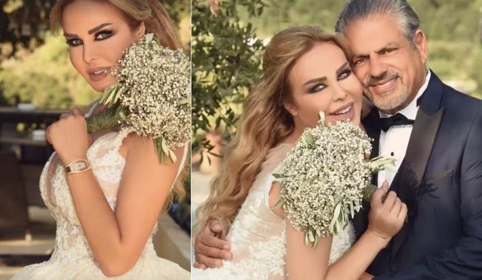 زفاف رولا سعد المهندس فلسطيني الأصل يحيى الخضر