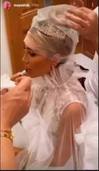 زفاف مايا دياب