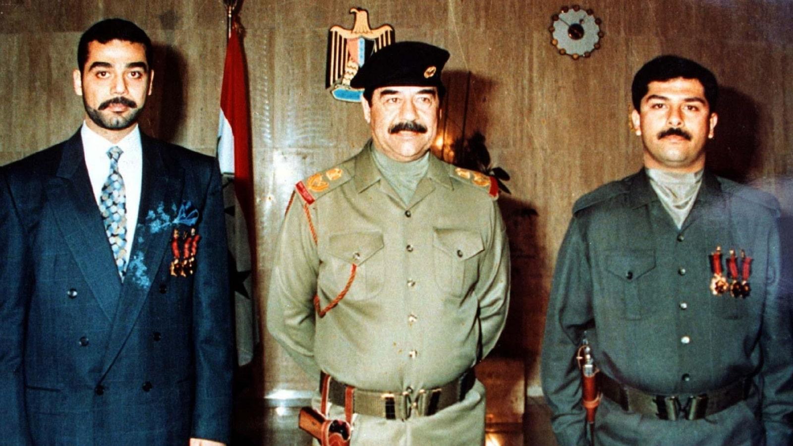 هكذا نعى صدام حسين نجليه عدي وقصي بعد مقلتهما على يد القوات الأمريكية (فيديو)