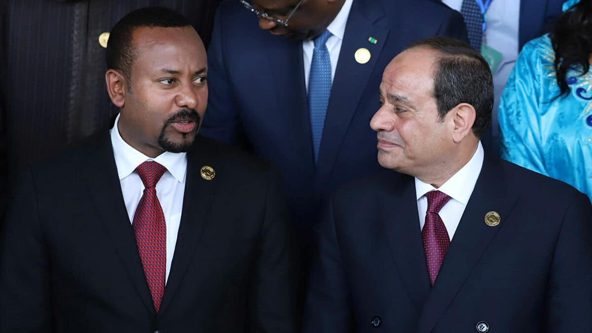 عبدالفتاح السيسي وآبي احمد- سد النهضة