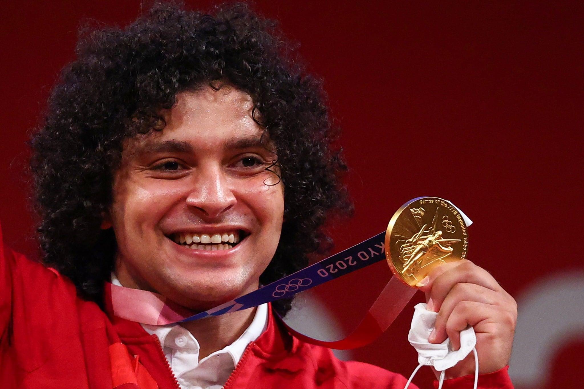 الرباع القطري فارس حسونة يتوج بالميدالية الذهبية في رفع الأثقال عن فئة 96 كيلوغراما