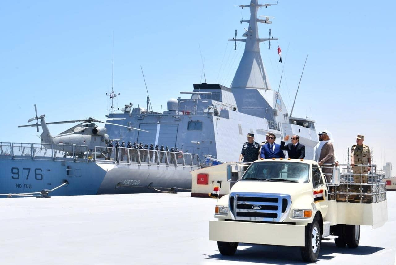 قائد القوات البحرية الأميرية في قطر شارك في افتتاح قاعدة 3 يوليو في مصر