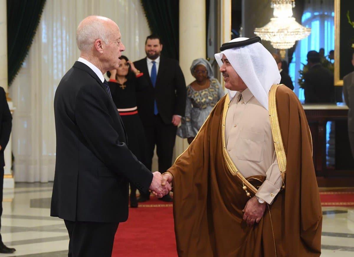 قيس سعيد وسفير قطر سعد بن ناصر الحميدي