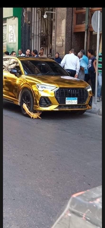 مخالفة سيارة حمو بيكا الذهبية