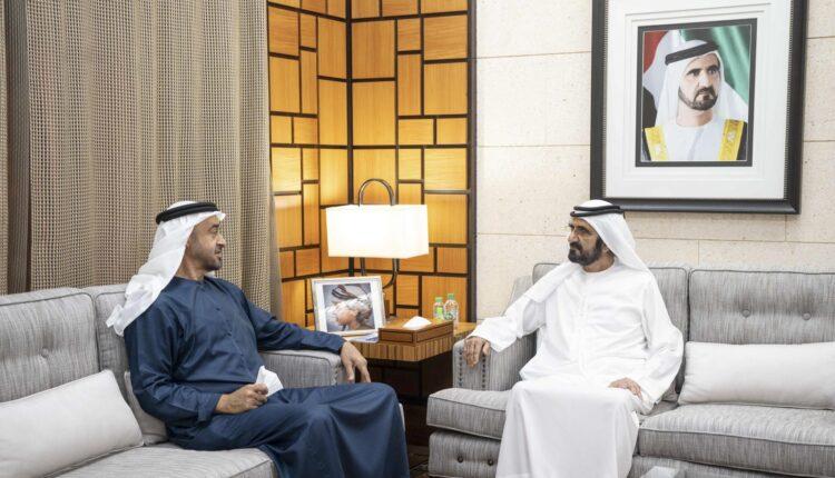 لقاء محمد بن زايد و محمد بن راشد في دبي