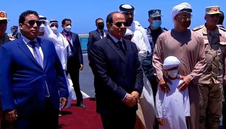 محمد بن زايد خلال مشاركته في افتتاح قاعدة 3 يوليو