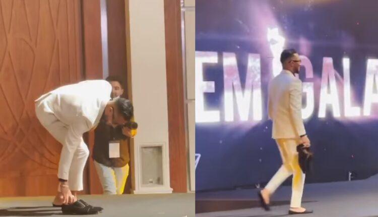 محمد رمضان يخلع حذاءه على المسرح مهرجان EMI Gala
