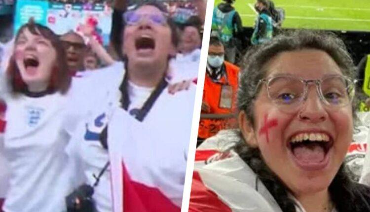 مشجعة إنجليزية حصلت على إذن مرضي لحضور مباراة إنجلترا والدنمارك ليكشف أمرها وتفصل من العمل