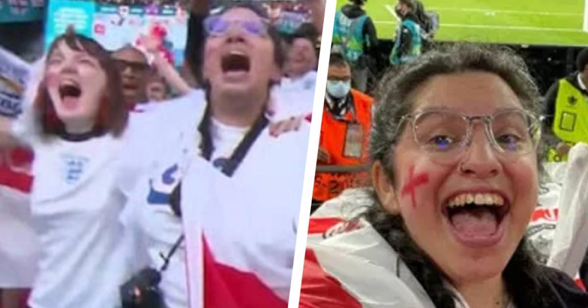 """"""" المنحوس منحوس"""" مشجعة إنجليزية تهربت من العمل لحضور مباراة بلادها..لكن المفاجأة!"""