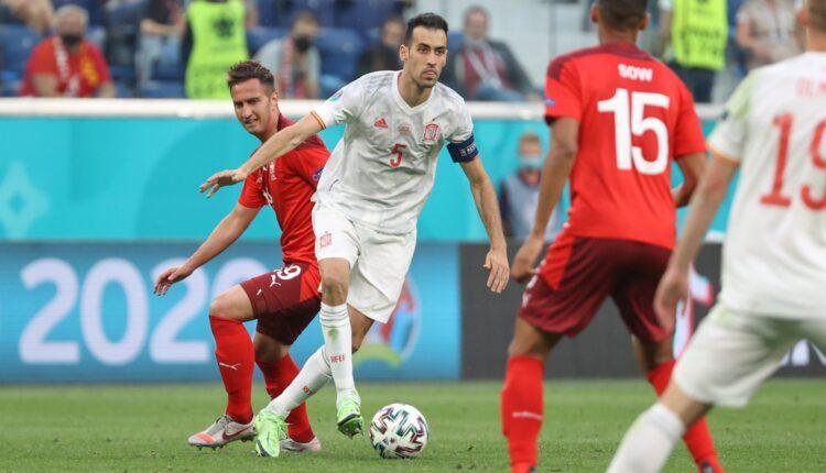 مباراة إسبانيا وسويسرا في اليورو