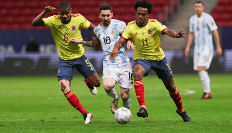 مباراة منتخب الأرجنتين وكولومبيا