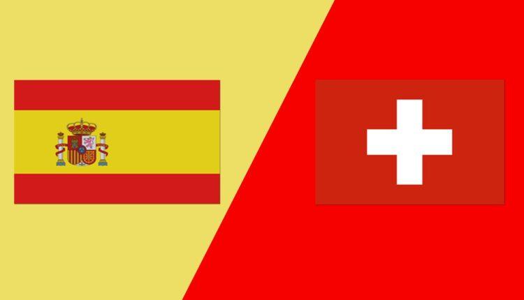 مباراة منتخب إسبانيا وسويسرا في اليورو