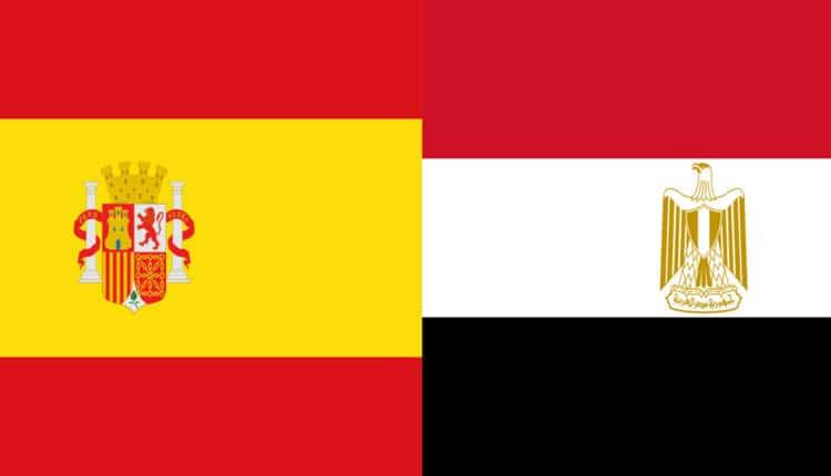 مباراة منتخب مصر وإسبانيا