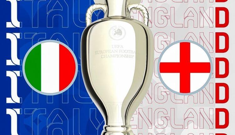 مباراة نهائي اليورو بين منتخب إيطاليا وإنجلترا