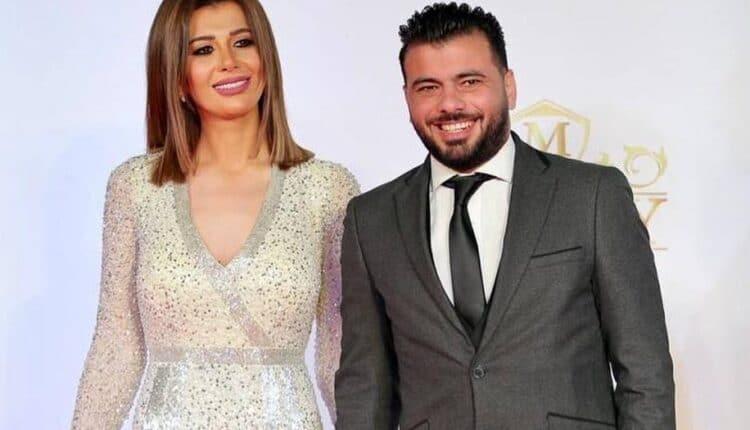 زوجة عماد متعب والفستان الأصفر المكشوف
