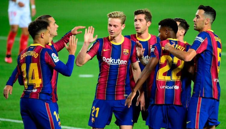 نجوم فريق برشلونة ورفض خفض أجورهم من أجل التوقيع مع ميسي