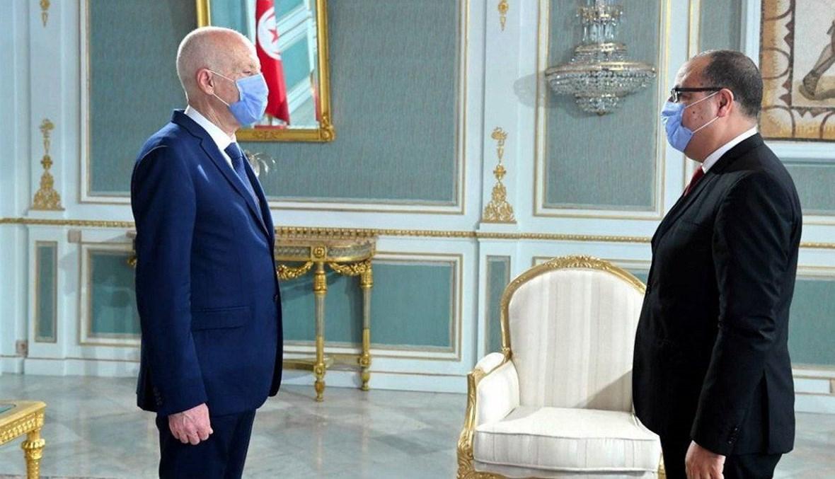 هشام المشيشي وقيس سعيد