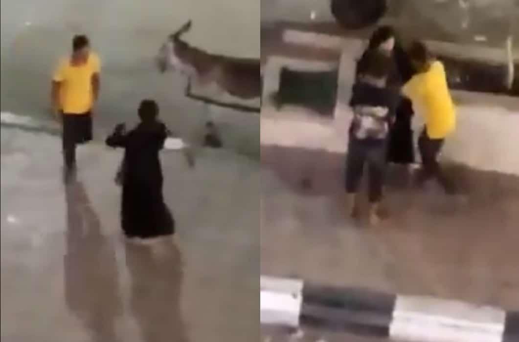 واقعة التحرش لشابين بفتاة في ميدان الفيوم بمصر