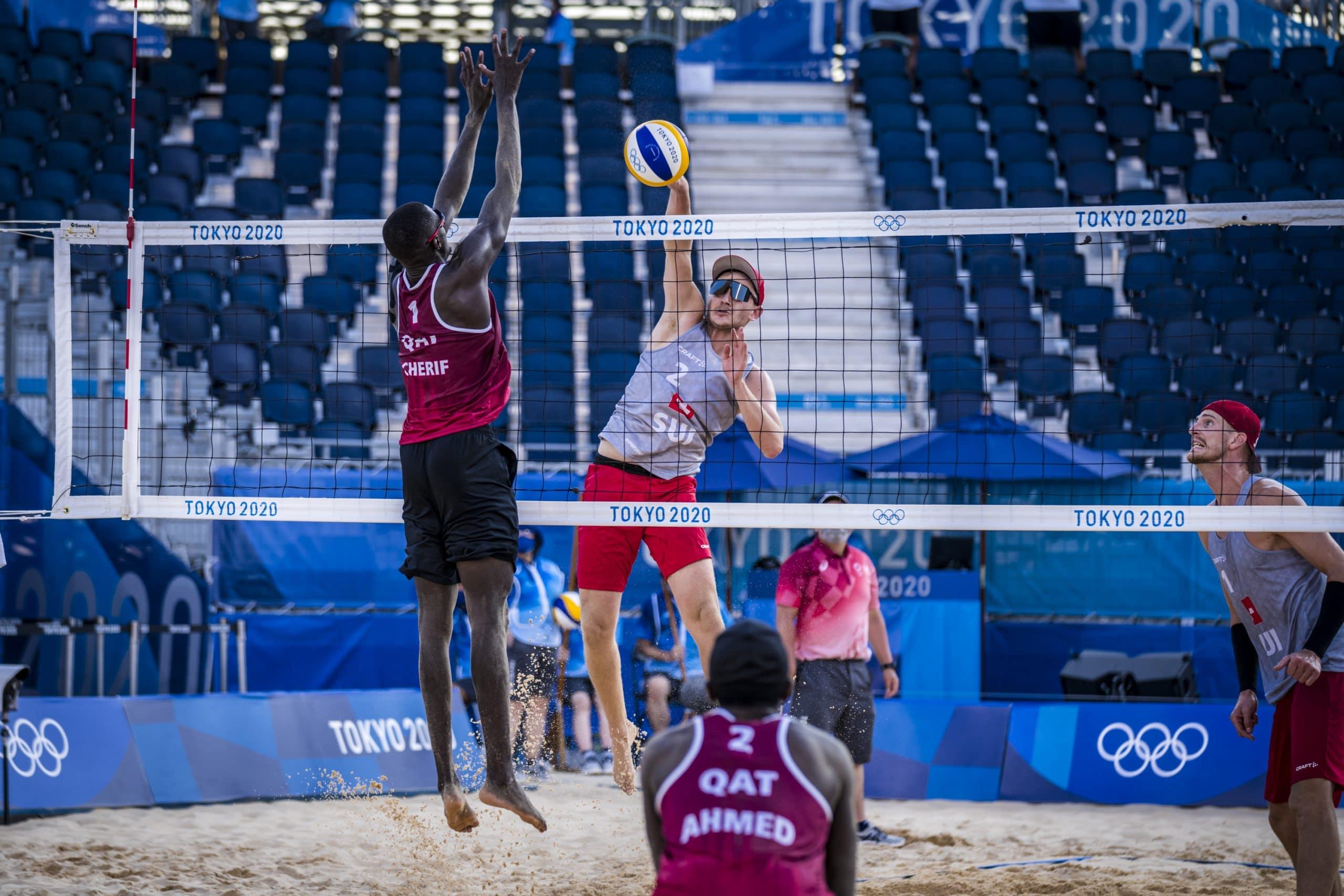 قطر تواصل تألقها في رياضة كرة الطائرة الشاطئية في أولمبياد طوكيو