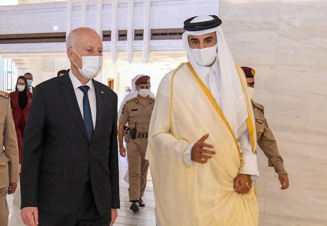 أمير قطر وقيس سعيد