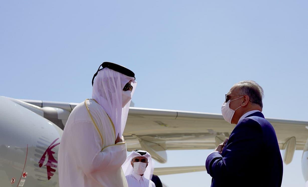 أمير قطر يصل العراق