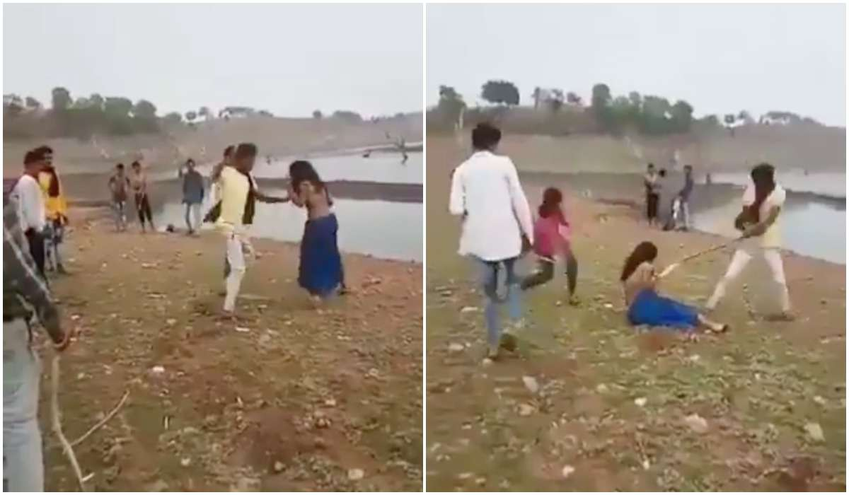 شبان يضربون فتاتين بطريقة وحشية بالهند