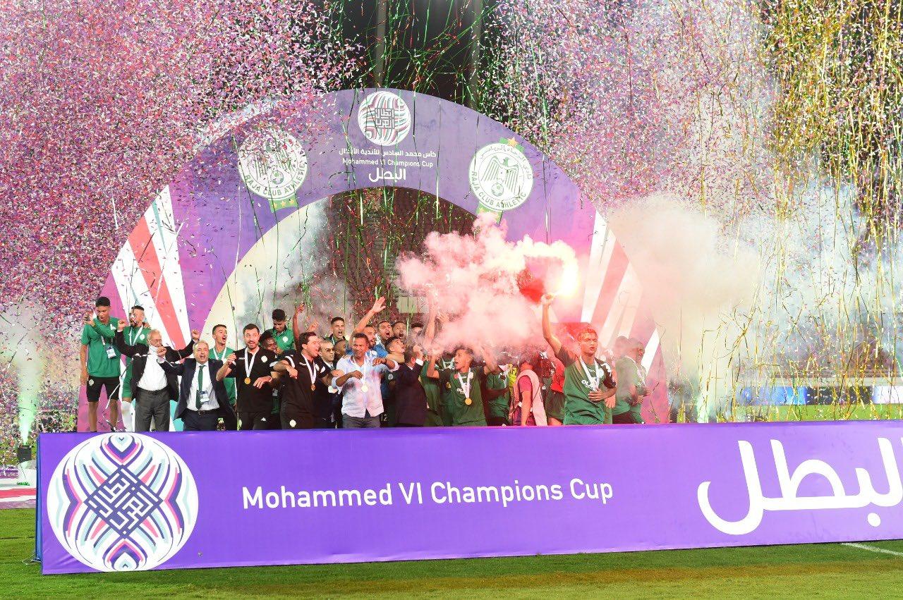 الرجاء المغربي يتوج بطلاً للأندية العربية للمرة الثانية في تاريخه (شاهد)