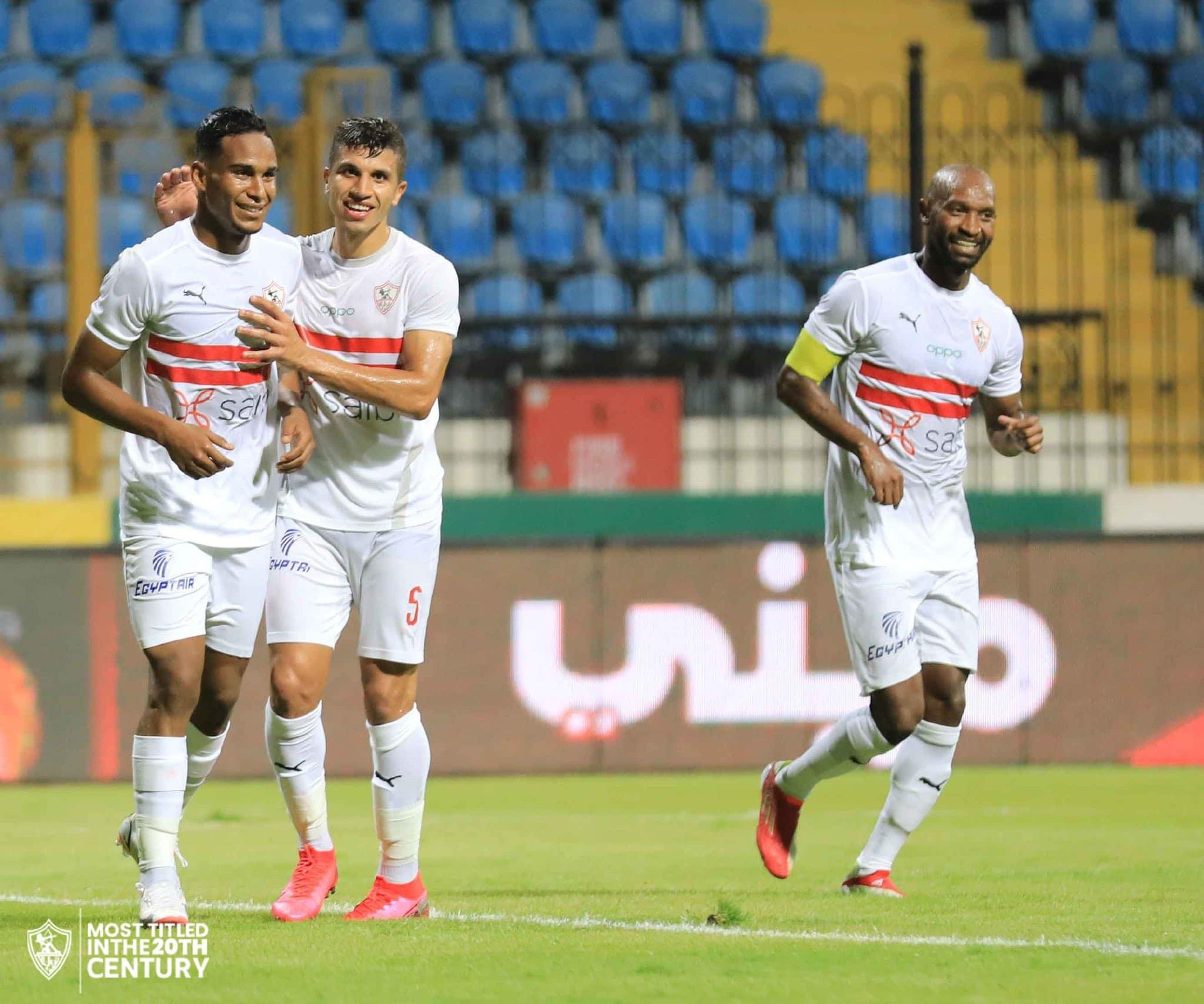 مباراة الزمالك وغزل المحلة في الدوري المصري
