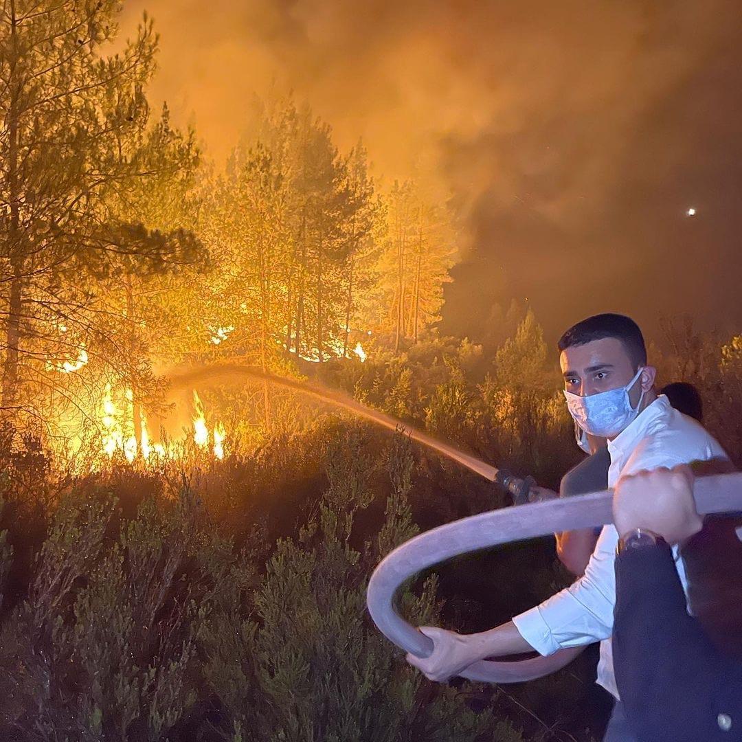 الشيف بوراك يختنق أثناء مشاركته في اطفاء حرائق انطاليا