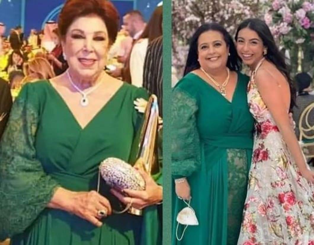 ابنة رجاء الجداوي ترتدي فستان والدتها الراحلة