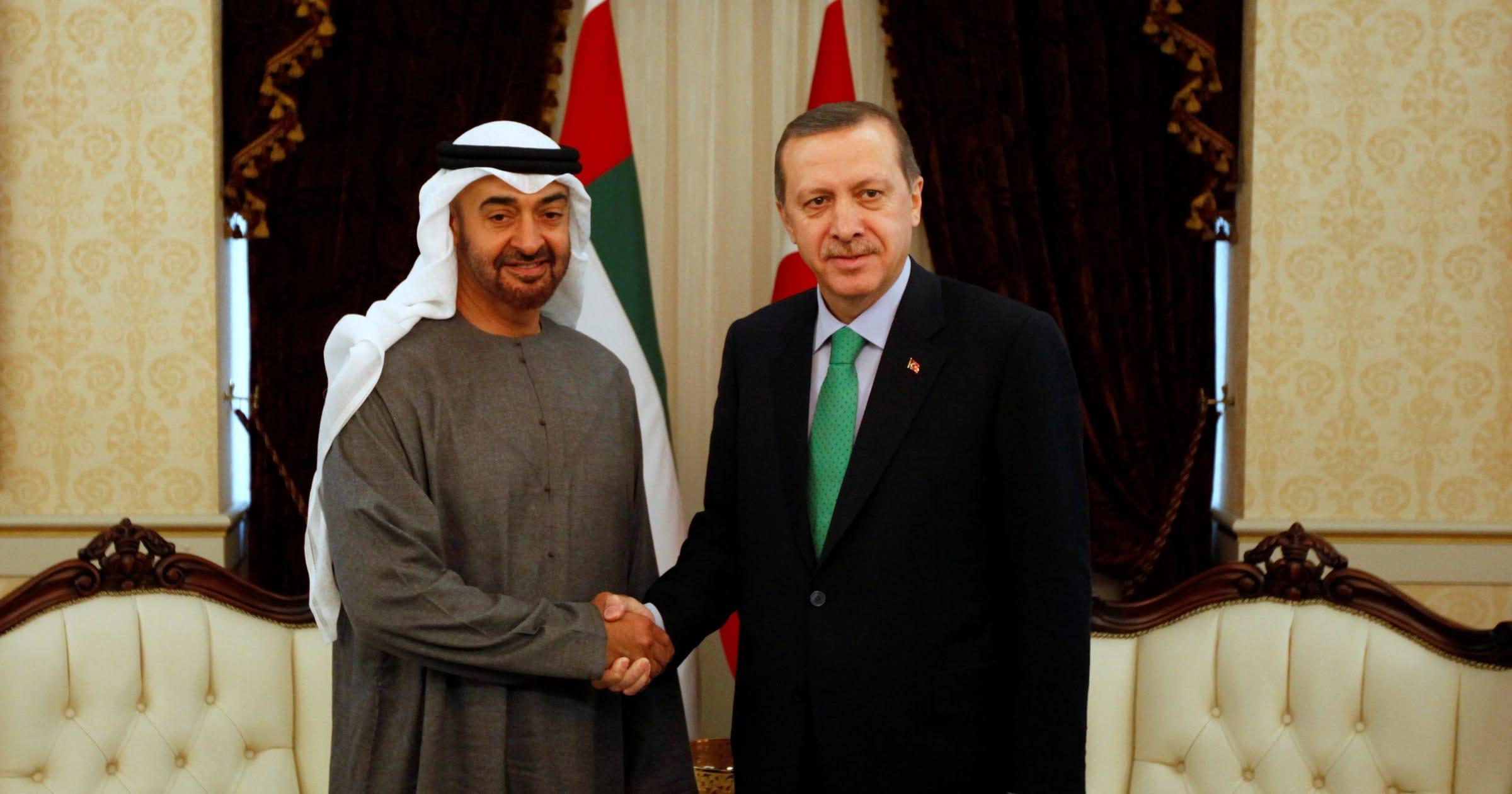 رجب طيب أردوغان ومحمد بن زايد