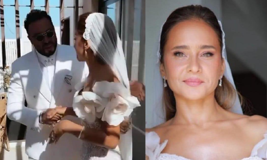 زفاف نيللي كريم على هشام عاشور