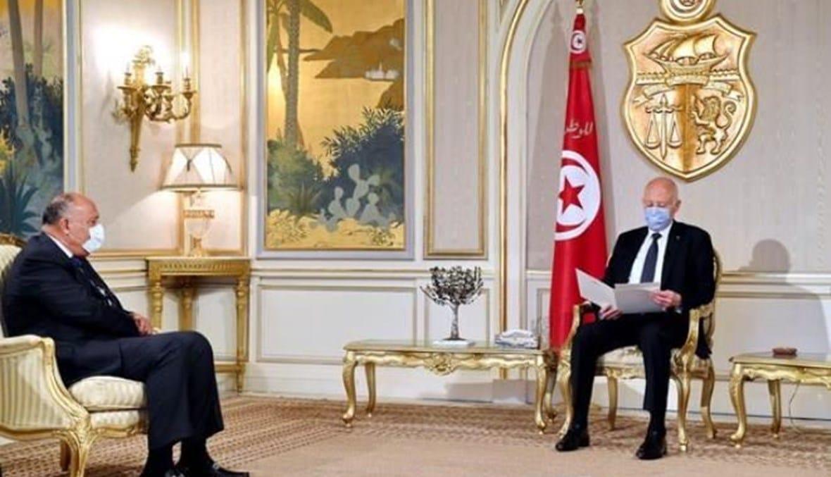 سامح شكري يصل تونس بعد أنباء عن تواجد ضباط مصريين أشرفوا على انقلاب قيس سعيد