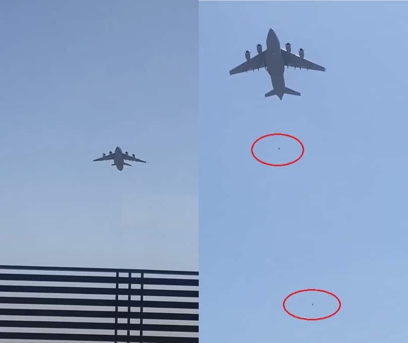 فوضى وقتلى في مطار كابل .. فيديو سقوط هاربين ربطوا أنفسهم بعجلات طائرة (شاهد)