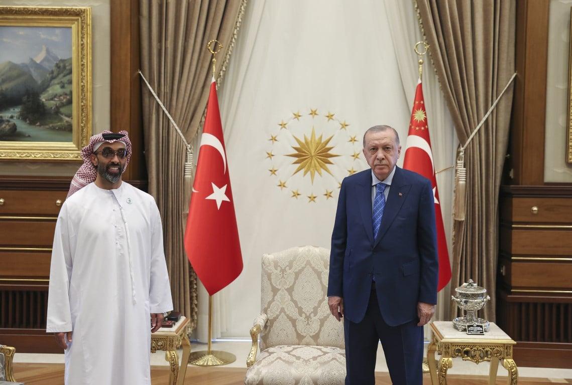 طحنون بن زايد والرئيس التركي رجب طيب أردوغان