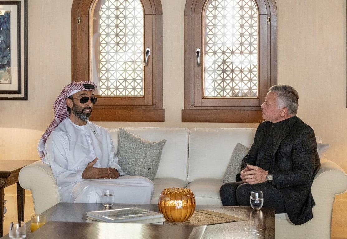 طحنون بن زايد وملك الأردن عبدالله الثاني
