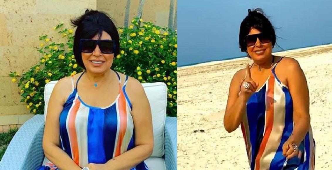 فيفي عبده تظهر على الشاطئ بفستان مكشوف الصدر رغم تعرّضها لوعكة صحية جديدة