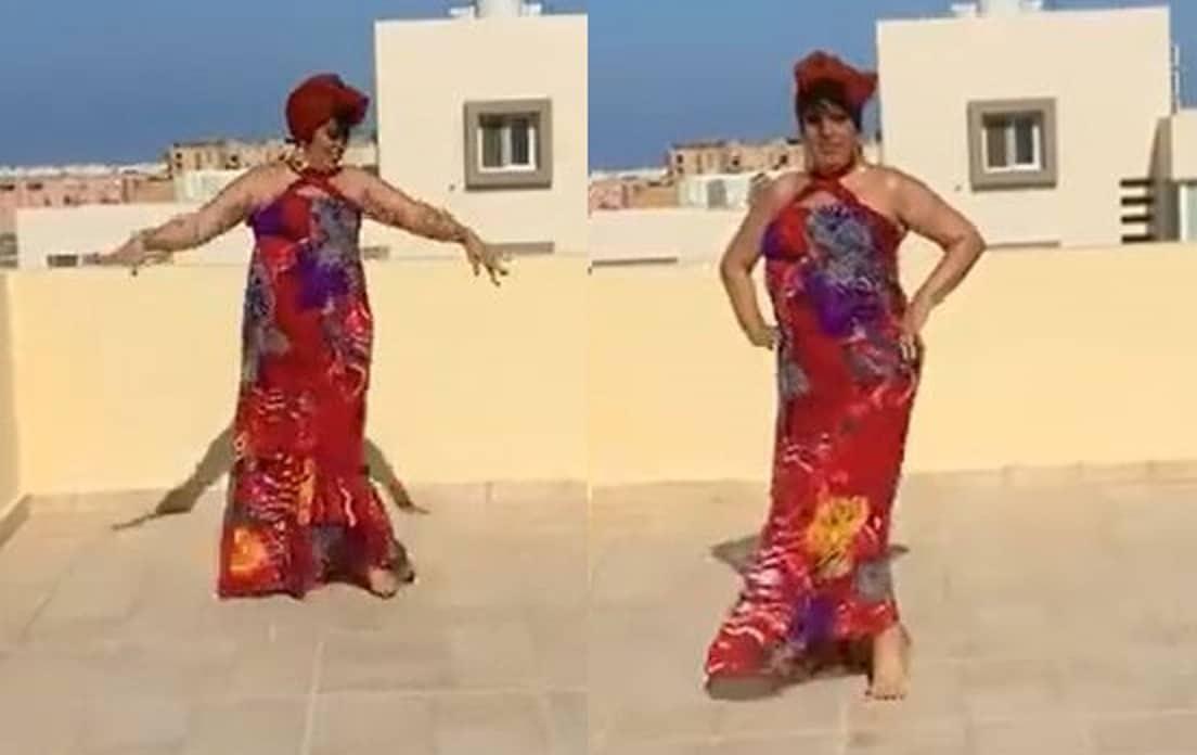 فيفي عبده ترقص على أغنية محمد حماقي