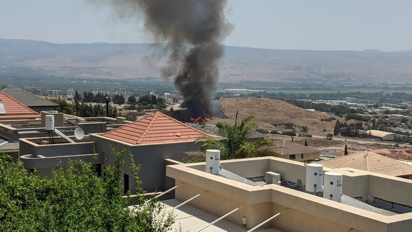 """قصف اسرائيلي على جنوب لبنان بعد سقوط صواريخ في """"كريات شمونة"""" (شاهد)"""