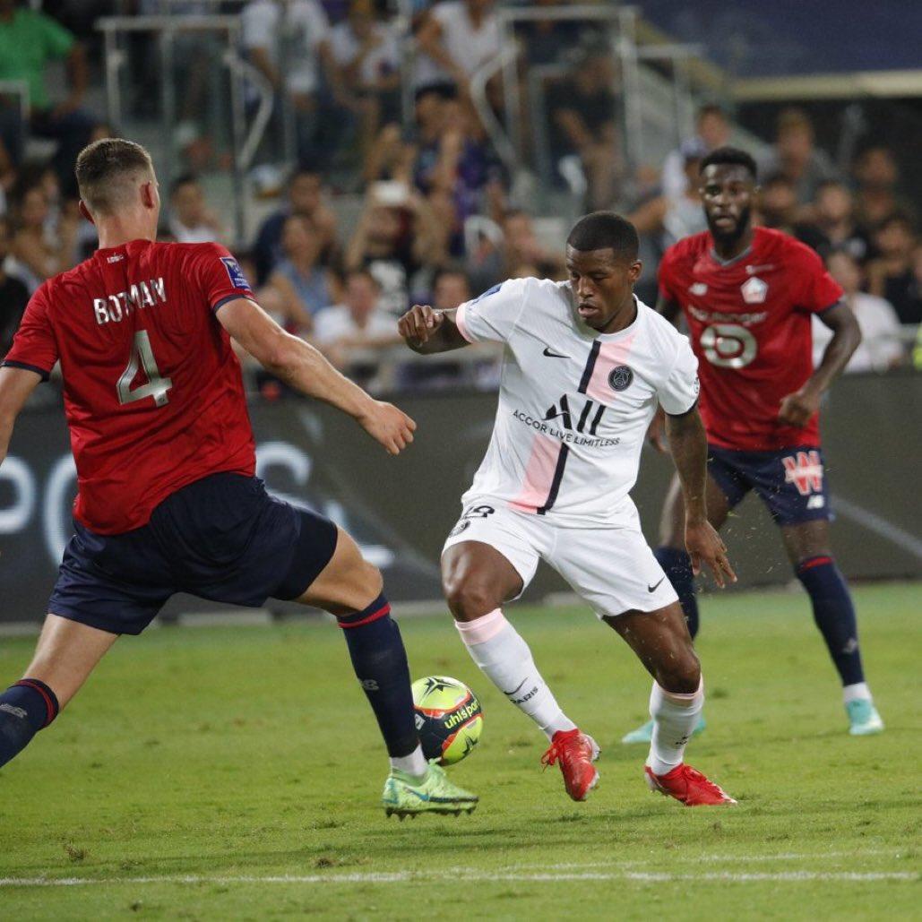 مباراة ليل وباريس سان جيرمان في نهائي كأس السوبر الفرنسي
