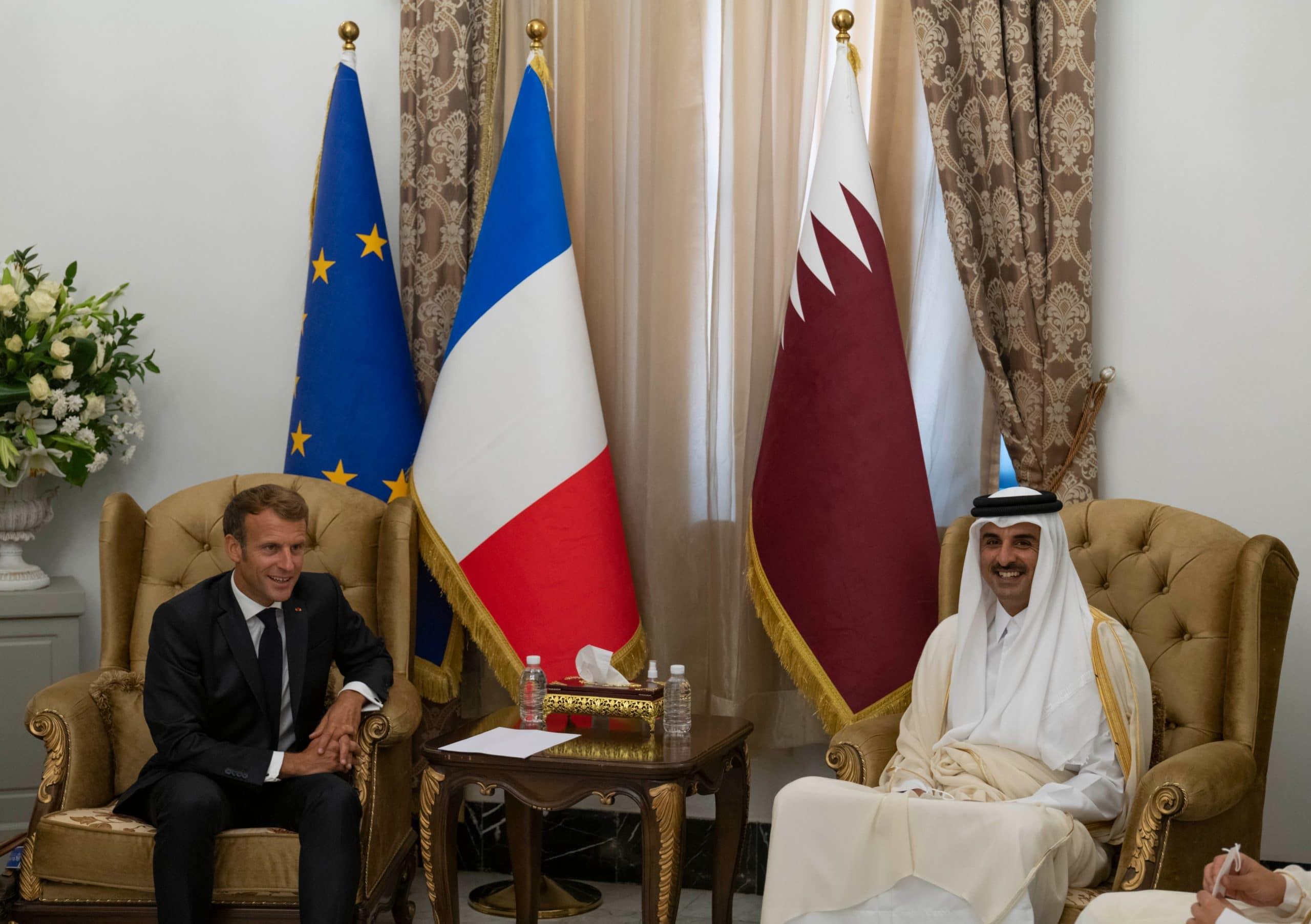 ماكرون وأمير قطر الشيخ تميم بن حمد
