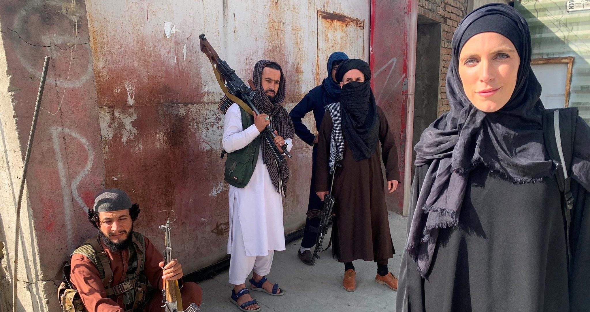مراسلة CNN الامريكية في كابل