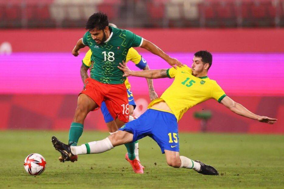 مباراة منتخب البرازيل والمكسيك في أولمبياد طوكيو