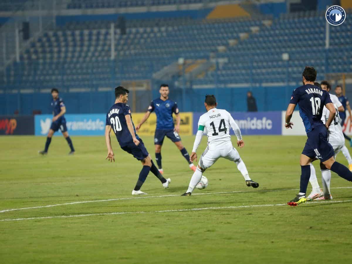 مباراة بيراميدز والجونة في الدوري المصري