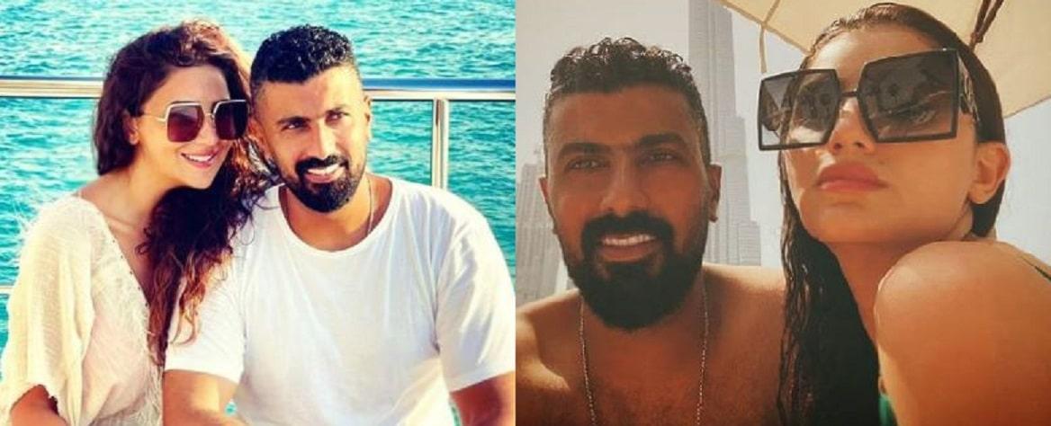 مي عمر ومحمد سامي في وصلة رقص رومانسية والجمهور: (قمصان النوم في البيت)!